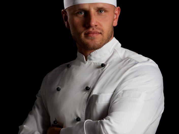 Bewerbungsfoto eines Kochs