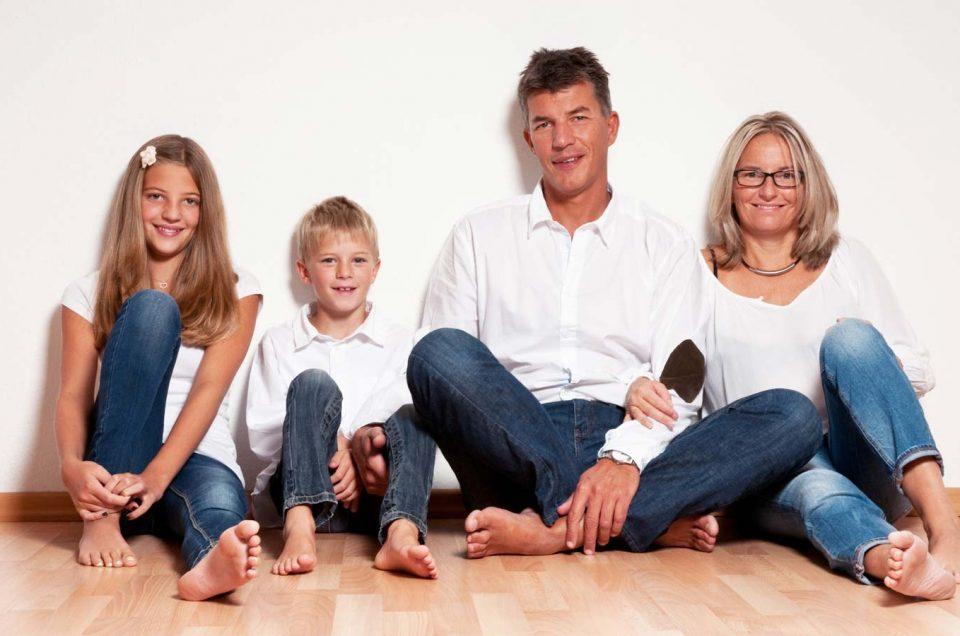 Familienportrait mit Kindern