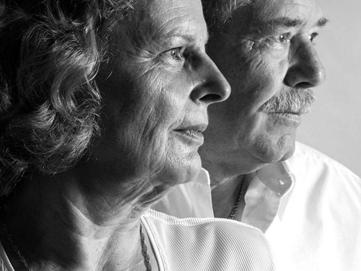 Senioren Ehepaar im Studio