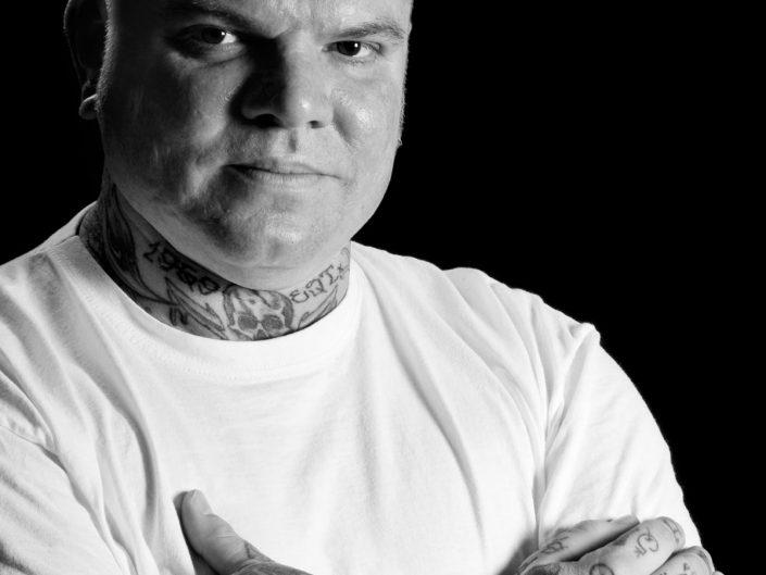 Schwarz-Weiß Portrait eines Mannes